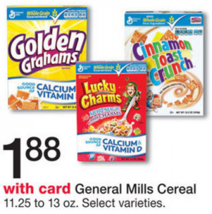 Walgreens Starting 5/22: General Mills Cereals $1.37!