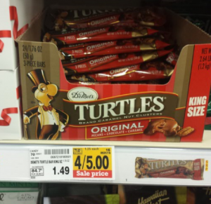 King Size DeMet's Turtles 3-piece Bars Only $.75 at Fred Meyer! (Reg. $1.49)