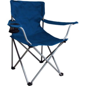 Ozark Trail Folding Chair with Built-In Cup Holder, Blue $5!