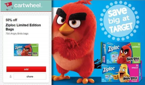 Target: Ziploc Angry Birds Sandwich Bags $0.85 After Coupon Stack!