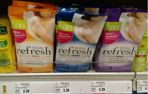 HOT BUY! Ban Total Refresh Cooling Body Cloths For $.50 at Fred Meyer! (Reg. $3.29)