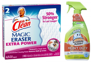 Target: Mr Clean Magic Eraser Extra Power & Scrubbing Bubbles with Fantastik $0.62!