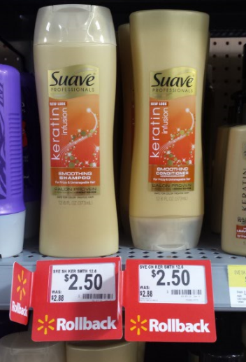 Walmart Coupon Deal Suave Professionals Gold Hair Care As Low As 1 00 A Bottle