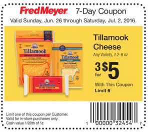 FREE + Money Maker Package of Tillamook Cheese Slices at Fred Meyer With Printable Coupon!