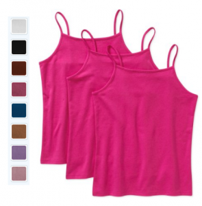 Faded Glory Girls' Solid Cami, 3-Pack $3.50!