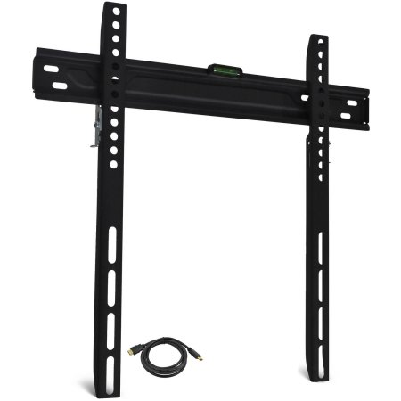 low profile tv wall mount for 19 60 tvs with hdmi cable