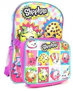 Shopkins Girls' Backpack with Lunch Kit $16.46!