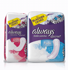 Free Incontinence Liner and Pad Multi-pack from Always Discreet!