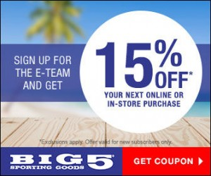 Great Buys on Back to School Shoes at Big 5 + Save More With This Extra 15% Off Coupon!