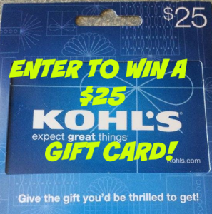 Enter to Win a $25 Kohls Gift Card!