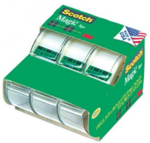 Scotch Magic Tape 3/4 x 300 Inches, Pack of 3 For $3.00! (Only $1 Per Roll)