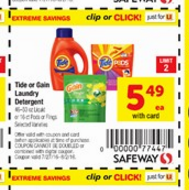 Tide Pods $3.49 at Safeway With Coupon Stack!