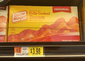 Oscar Mayer Fully Cooked Bacon $2.98!