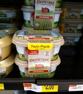 Country Crock Spread Twin pack 15oz $1.25!