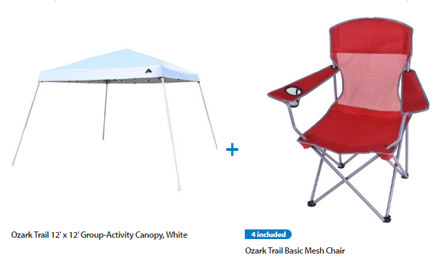 Ozark Trail 12×12 Slant Leg Instant Canopy/Gazebo Shelter with 4 Chairs Value Bundle $64!  sc 1 st  Raking In the Savings & Ozark Trail 12×12 Slant Leg Instant Canopy/Gazebo Shelter with 4 ...