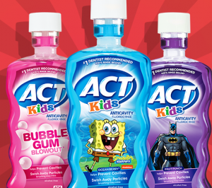 Safeway Shoppers: Act Kids' Mouthwash PLUS 2 Kids' GUM Toothbrushes For Only $1.99!