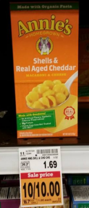 Annie's Homegrown Macaroni & Cheese $.50 at Fred Meyer! (Reg. $1.69)