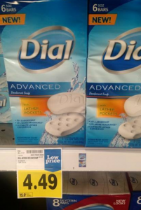 New Dial Advanced Bar Soap 6-packs $3.49 at Fred Meyer!