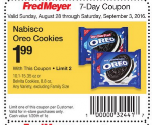 Nabisco Oreo Cookies As Low As $1.49 at Fred Meyer!