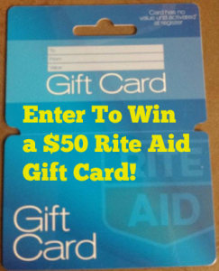 Enter To Win a $50 Rite Aid Gift Card!