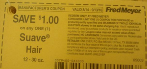 FREE Suave Hair Care at Fred Meyer! (Dead Deal)