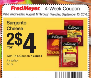 Sargento natural cheese slices as low as at fred meyer for Gardening naturally coupon