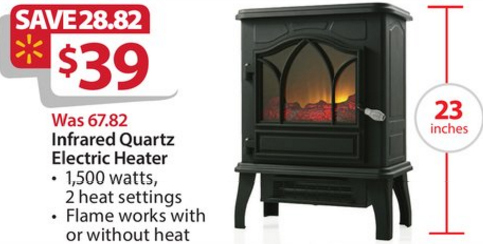 Chimneyfree Electric Infrared Quartz Stove Heater 5 200