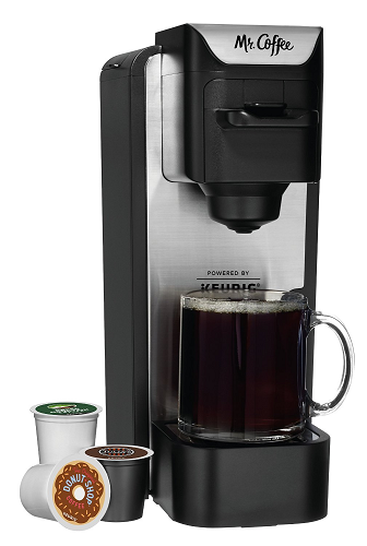 Single Cup Coffee Maker Uses Grounds : Mr. Coffee K-Cup Brewing System with Reusable Grounds Filter, Silver USD 39.99 (Reg USD 59.99)