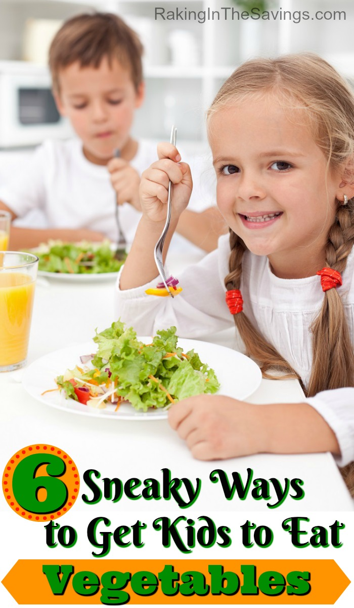 If you have trouble getting your kids to eat veggies, this post is for you. It will give you 6 Sneaky Ways to Get Kids to Eat Vegetables!