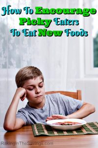 Have a picky eater on your hands? Check out these tips on How To Encourage Your Picky Eater To Eat New Foods!