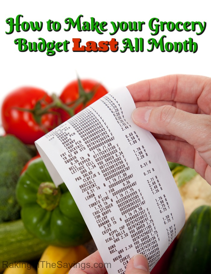 Do you have trouble getting your grocery budget to last? Check out these tips on How to Make your Grocery Budget Last All Month!