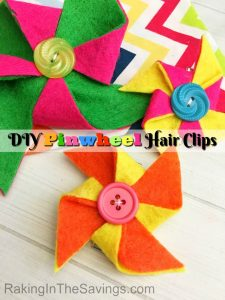 If you have girls, this is a cute and fun craft to do. You can make these DIY Pinwheel Hair Clips!
