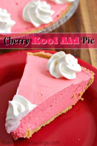 Here is an easy pie recipe for you to try. It is for a Cherry Kool Aid pie!