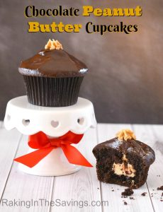 Everyone loves chocolate and peanut butter, right? Well these chocolate peanut butter cupcakes are a must try!!