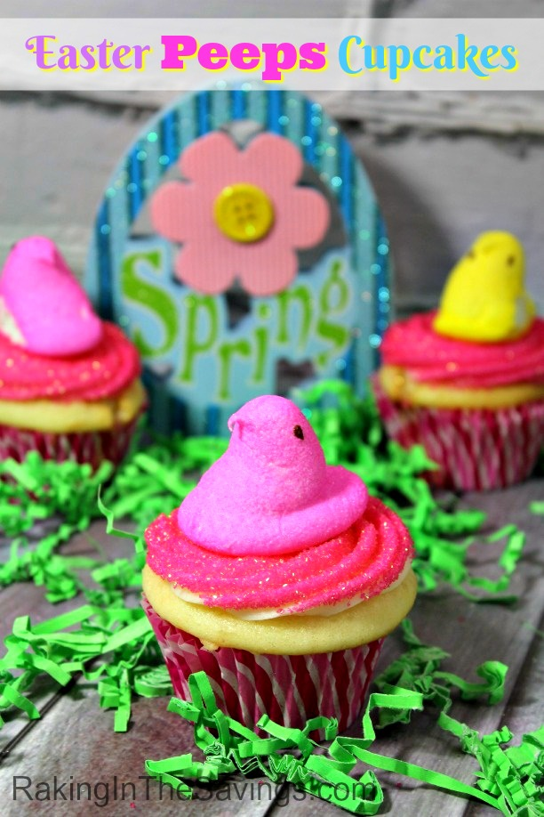 Wanting to make your own cupcakes this Easter? Check out these adorable Easter Peeps Cupcakes!