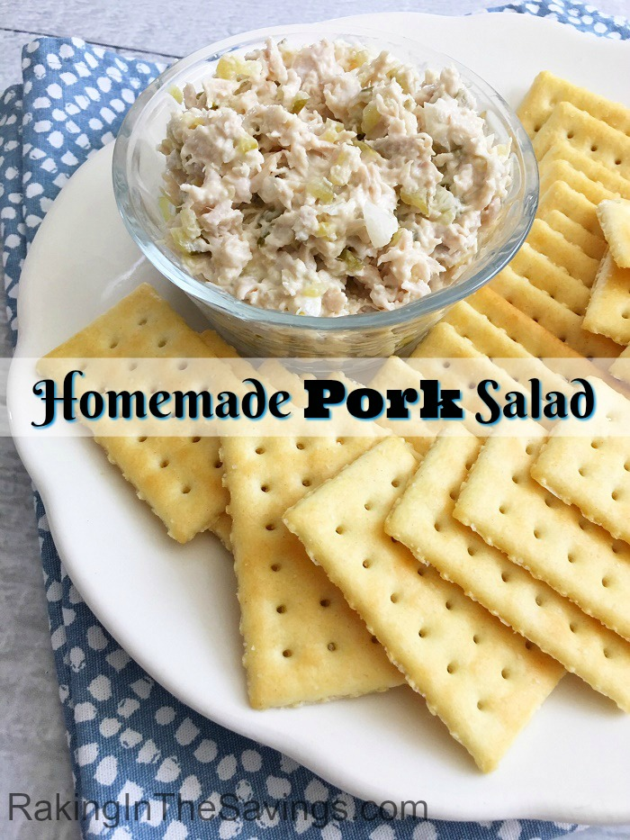 If you are looking for something different for lunch, here is a recipe to try. It is for a homemade pork salad.