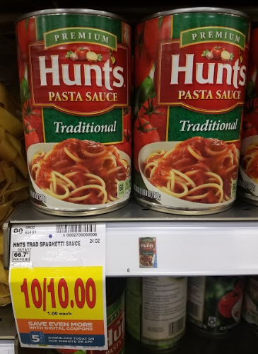 hunts spaghetti sauce coupons