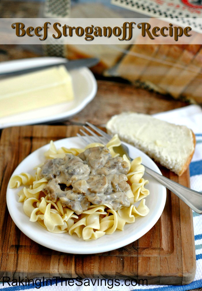 Have some beef you need to use up and looking for recipe ideas? Check out this Beef Stroganoff Recipe!