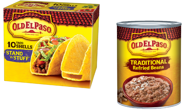 Old El Paso Refried Beans and Taco Shells Just $.50 at ...