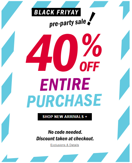 9a151eae5 Old Navy Early Pre-Black Friday Sale Live Now! Get 40% OFF Entire Purchase!